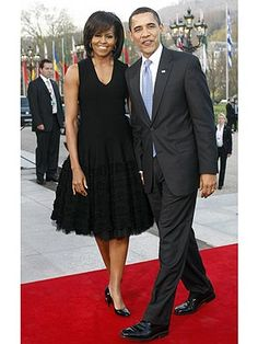FLOTUS Michelle Obama.  I love this dress.