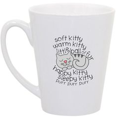 Big Bang Theory Soft Kitty coffee mug by perksofaurora on Etsy, $16.00