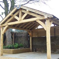 Affordable oak design for home & garden, bespoke oak garden buildings, structures and rustic furniture in the heart of Kent Rustic Pergola, Deck With Pergola, Backyard Pergola, Backyard Patio Designs, Backyard Projects, Backyard Ideas, Porches, Enclosed Gazebo, Gazebo Plans