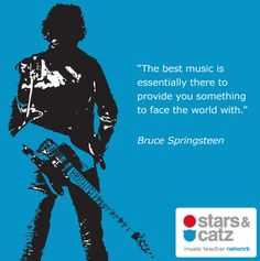 """""""The best music is essentially there to provide you something to face the world with. Song Quotes, Music Quotes, Bruce Springsteen Quotes, Dead Poets Society, E Street Band, Guy Names, Staying Alive, Music Lyrics, Music Is Life"""