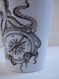 Octopus lost at sea 12oz latte mug