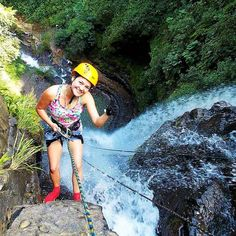 "Ready to live an adventure? In Támesis, ""the land you'll always return to"" you can test your limits. Canyoning is a sport where you rappel at a waterfall. The one of Támesis is beautiful - and huge. Give it a try! #travelandmakeadifference #waterfall #rappel #canyoning #colombia #outdoor #nature #wild #adventure"