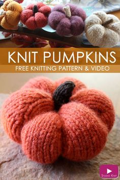 How to Knit Pumpkins