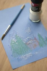 Preschool Winter Activities: Create Snowy Salt Paintings
