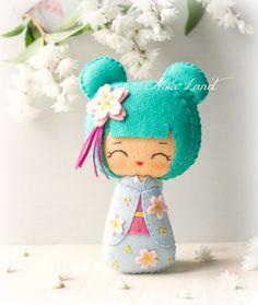 PDF. Kokeshi. Japanese dolls. Plush Doll Pattern Softie