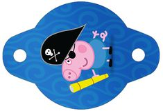 Enfeite Canudinho George Pig Pirata: Peppa Pig Printables, Free Printables, Peppa Big, George Pig Party, Pirate Birthday, Pig Birthday, Party Themes, Party Ideas, 30