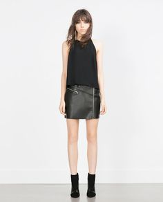 Image 1 of HALTER NECK TOP WITH LACE BACK from Zara