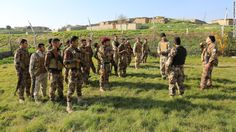 Sons of Liberty International trainers oversee the training of Syrian militiamen.