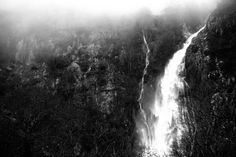 Dark and savage waterfall at Abergwyngregyn by Glanfor on Etsy