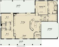 Would want a foyer that doesn't open directly to the living area, and perhaps a utility room that you can enter from the garage? Love that the utility room opens to the master closet and the single entrance to the master bath/closet area.