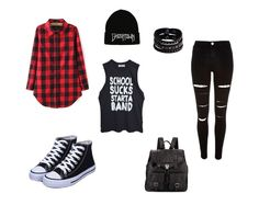Resultado de imagen para conjuntos de ropa mujer joven / Extra styles like this one in this board Are you going to miss them? Edgy Outfits, Casual Winter Outfits, Outfits For Teens, Girl Outfits, Fashion Outfits, Mode Kpop, Mode Hip Hop, Punk Fashion, Aesthetic Clothes
