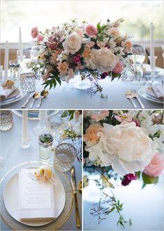 table setting, flower arrangement, tablescape