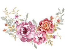 WATERCOLOUR BOUQUET OF VARİOUS FLOWER   Design Patterns Studio