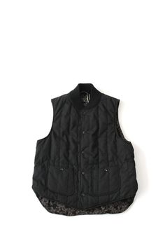 Engineered Garments Primaloft Fridge Vest Black Weather Poplin - The Business Fashion - 1