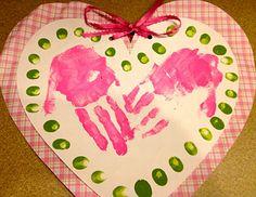 handgedrukt hart voor moederdag