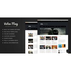 Vetee Magazine WordPress Theme | Website templates | Zizaza.com