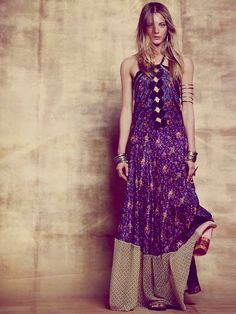 Free People Meadows Patched Silk Maxi, €273.62
