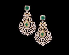 Diamond Earrings & Jhumkis & Bali - Diamond Jewelry Diamond Earrings & Jhumkis & Bali at USD And GBP Diamond Earrings Indian, Diamond Necklace Set, Diamond Earing, Emerald Earrings, Diamond Bracelets, Diamond Pendant, Silver Bracelets, Diamond Jewelry, Gold Necklaces