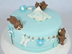 Baby shower cake with bear for boys Baby shower cake with bear for boys Babyparty Torte mit Bärchen für Jungen 20 Source by Baby Shower Cakes For Boys, Baby Boy Shower, Baby Showers Juegos, Boys 1st Birthday Cake, Teddy Bear Cakes, Fondant Baby, Cake Baby, Baby Party, Baby Shower Decorations