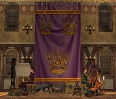The Medieval Smithy Wawa's Whacky 4 Wallhangings! Medieval, Banner, Fantasy, Curtains, Sims 2, Home Decor, Banner Stands, Blinds, Decoration Home