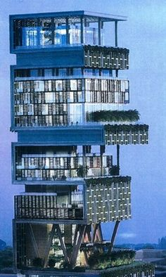 World's most expensive home, 'Antilia' in Mumbai is now complete - $1,000,000,000.
