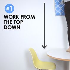 1. Work from the top down. | 7 Tricks To Upgrade Your Apartment With Removable Wallpaper
