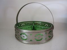 Vintage Green Depression Glass Divided Relish Dish by craigsgirl09, $17.00