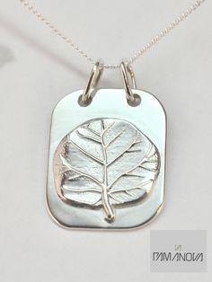Sea Grape leaf pendant.