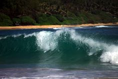 Surfs Up by Dennis Begnoche - Photo taken of crashing wave in Kauai. Click on the image to enlarge.