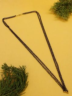 This Charming Simple Mangalsutra Necklace Is Neat And Simple For Those Who Wish For Light Jewelry Collection. Match This Jewelry With Any Of Your Outfit And Flaunt Your Style 1 Gram Gold Jewellery, Temple Jewellery, Gold Jewelry, Fashion Jewelry Stores, Fashion Jewellery, Golden Color, Festival Wear, Ethnic Jewelry, Plant Hanger