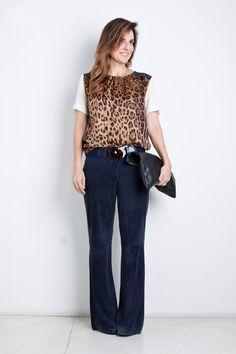 estampa leopardo com calça de chamois por Chris Francini em junho 4, 2014