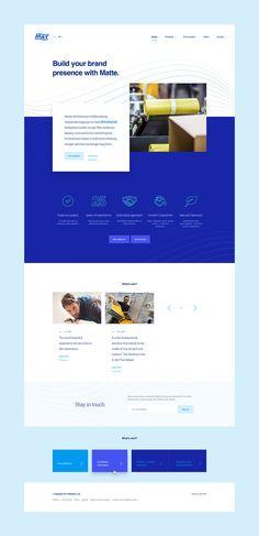 Website and branding revamping (logo not included) made for a Slovak based packaging manufacturer Mat-obaly. Web Design Icon, Web Design Agency, Ui Design, Graphic Design, Interface Design, User Interface, Corporate Website Design, Website Design Layout, Layout Design