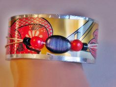 Modern 3D Beautiful  bracelet with Upcycled Recycled by icColors, $15.00