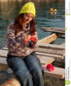 Woman Knitiing - Download From Over 53 Million High Quality Stock Photos, Images, Vectors. Sign up for FREE today. Image: 29459729