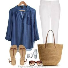 Fifty Not Frumpy Polyvore | Photo: I hope you have an easy breezy happy Saturday!