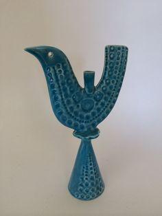Arklow Studio Pottery Bird Candle Holder Mid by VestigeModern