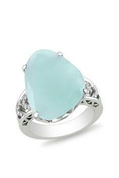 sofia b - aquamarine & diamond fashion ring…. my birthstone! :)