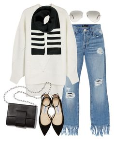 """""""Sin título #1205"""" by vivig5 on Polyvore featuring moda, 3x1, DKNY, Forever 21, MM6 Maison Margiela, Jimmy Choo y Ray-Ban"""