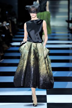 A magical skirt by Armani Privé, Spring/Summer 2012. via Vogue España