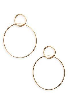 Main Image - Halogen Double Circle Drop Earrings