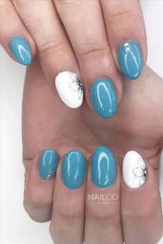 Seven inspirational blue nail art collections the stylish girl you must try - Abby FASHION STYLE Cute Nail Art Designs, Short Nail Designs, Girl Blog, Blue Nails, Light Art, Short Nails, Beautiful Sunset, Stylish Girl, Manicure