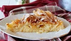 See related links to what you are looking for. Greek Recipes, Pie Recipes, Milk Pie Recipe, Sauces, Phyllo Dough, Pain, Apple Pie, Macaroni And Cheese, Deserts