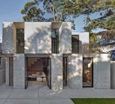 Via thehardt Glebe House (2013) by Nobbs Radford Architects located in Sydney, Australia. It was felt important from the outset that the new works drew from the original house as a basis for investigation, concrete as a heavy material was selected over framed construction. The new works boldly reinterprets the structure and materiality of the elements that make up the original Victorian era cottage. The off form concrete draws on the solidity of the original masonry structure whilst…