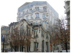 This Melting Building Mural on Georges V Avenue in Paris was a temporary hoarding