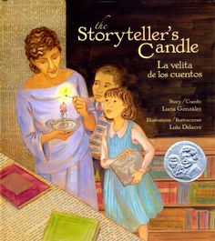 The Storyteller's Candle/LaVelita de los Cuentos by Lucia Gonzalez // During the early days of the Great Depression, New York City's first Puerto Rican librarian, Pura Belpré, introduces the public library to immigrants living in El Barrio and hosts the neighborhood's first Three Kings' Day fiesta.