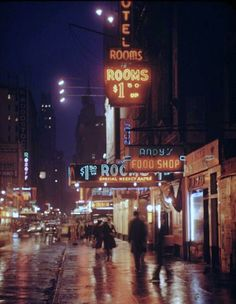 Glowing colors of 1954 New York City at night, by Andreas Feininger