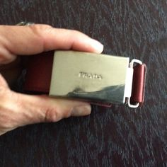 Authentic red PRADA beltFLASH SALE Soft worn in red leather Prada belt with silver buckle . Size 28/70. This is one of my all time favs so it has some wear in it so its soft with minor scratches on buckle.  Can't even tell as well taken care of Prada Accessories Belts