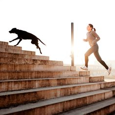 """If you're the owner of a four-legged friend (of the canine variety, at least), you probably know that running is mutually beneficial. """"Running with your dog gives you a bit more motivation, bonding..."""