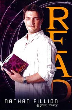 I want Nathan Fillion at my library. This is misleading....