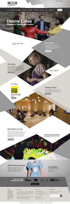 Design concept by www.carterdigital.com.au for Australian Centre for Contemporary Art (ACCA).